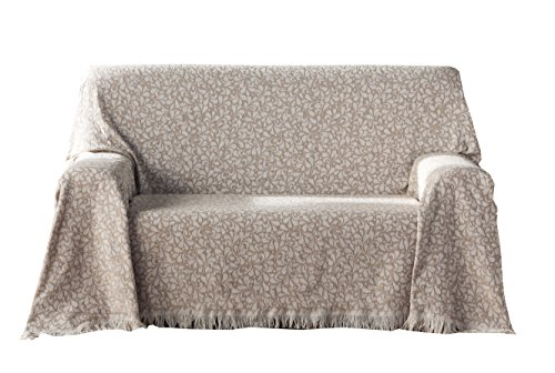 Zebra Textil Oregon Multipurpose Plaid, Baumwolle, Beige, 230x260 cm