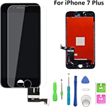 QTlier iPhone 7 Plus Screen Replacement Black 5.5'', LCD Display and 3D Touch Screen Digitizer Replacement Full Assembly for iPhone 7 Plus Screen with Repair Tool Kit
