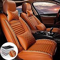 車用シートカバー 前席 高級PUレザー席 防汚 カーシートカバー 自動車に適応 プジョー PEUGEOT 308GT 軽普通車用 前席 運転席 助手席 オールシーズン2席分 (オレンジ)