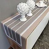 Nordic modernos caminos de mesa gabinete de la TV Zapato gabinete simple y sencilla es aparador manteles Cubierta de la toalla de noche rayas gabinete de China 40 * 220cm conveniente for cenar mesa de