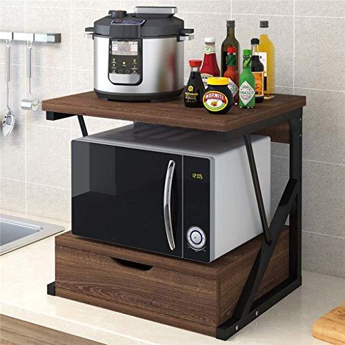 Printer Stand Plank met Opslag Lade Houten Bureau Papier Organzier voor Thuis/Kantoor, Printer Riser, 2 Tire BRON