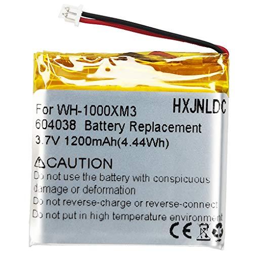 Reemplazo de la batería de polímero de Litio de 3.7V 1200mah para Sony WH-1000XM3 Auriculares estéreo inalámbricos con cancelación de Ruido Bluetooth Parte NO Sony SP 624038