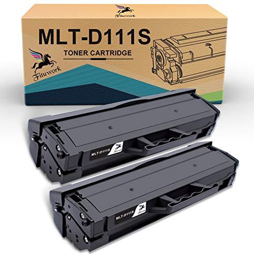 MLT-D111S FITU WORK Compatible pour Samsung MLT-D111S MLT-D111 pour Cartouche Toner Samsung Xpress M2070 M2070W M2026W M2026 M2070FW M2020 M2020W M2022 M2022W (Noir, 2 Pack)