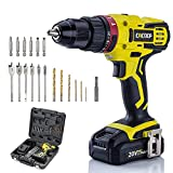 CACOOP 20v cordless hammer drill set with battery and charger,442lbs/50nm torque,21+1+1clutch,2Ah...