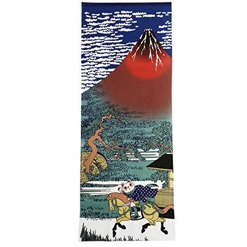 Paño japonés Tenugui Manekineko Aka Fuji Importado de Jap