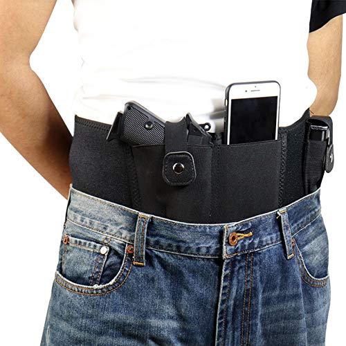 N \ A Funda para Pistola con Banda para el Vientre definitiva para Transporte Oculto | Compatible con Smith and Wesson, Shield, Ruger LCP y Pistolas similares