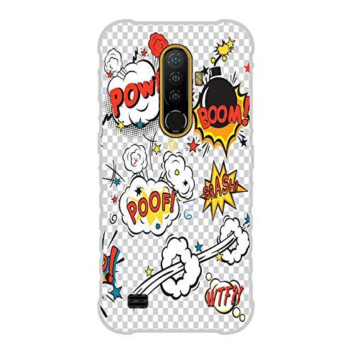 Todo Phone Store Funda Carcasa Personalizada Diseño Impresion UV LED Silicona Dibujo TPU Gel [Comics 004] para ULEFONE Armor X8 4G