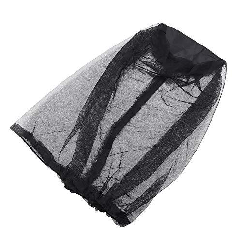 Mosquito Head Net Hat, Anti-Sun Hat Bucket Hat with Hidden Net Mesh Protection from Bee Outdoor Gardening Tool(Black)