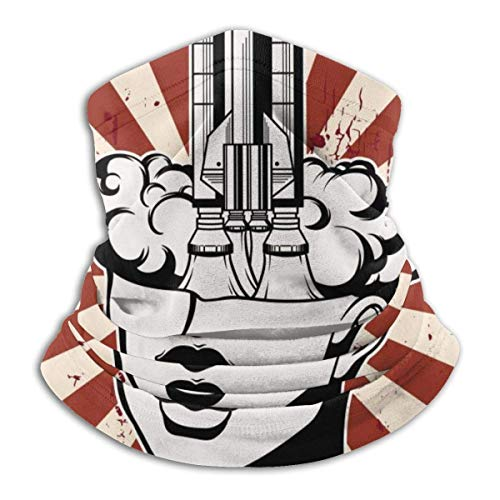 Trista Bauer Pasamontañas Vector ilustración dibujada a mano de cabeza femenina con capucha elegante pasamontañas