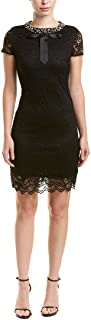 Betsey Johnson Womens Lace Dress with Pearls