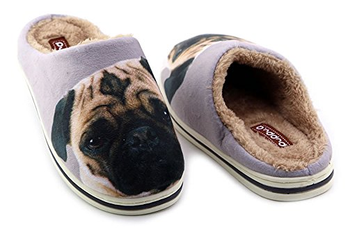 Happy E-life Cute Funny Unisex Animal Cartoon Pattern Winter Warm Thick Slipper