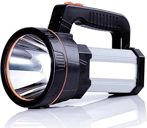 Airmsa Puissant Lanterne Torche Rechargeable 8000 Lumens Super Lumineux Étanche Lampe de Poche Poche Projecteur Portable LED Projecteur 5 Modèle avec 1 an de Garantie de Remplacement