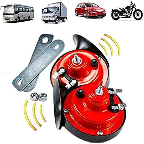 2PCS 240db Tromba Del Treno Per Camion, Clacson Elettrico Ad Aria Forte, Kit Corna Del Treno Impermeabile 12V Per Auto / Camion / Moto / Barca