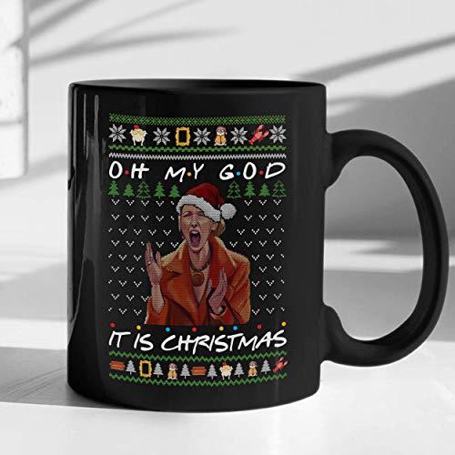 N\A Oh, Dios mío, es Navidad Taza Divertida Phoebe Buffay Lovers Mug Friends Lovers TV Show Taza de café de cerámica