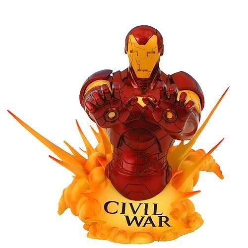 Diamond Select Toys–Figur–Iron Man–Büste Marvel Universe Civil War