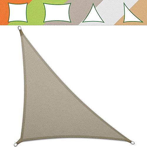 casa pura Sonnensegel wasserabweisend imprägniert | Testnote 1.4 | Dreieck | UV Schutz Größen (grau, 5 x 5 x 7 m)