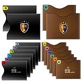 Tecboss クレジットカードケース カードホルダー 磁気防止 RFIDスキミング防止ケース 防水 個人情報保護 16枚セット
