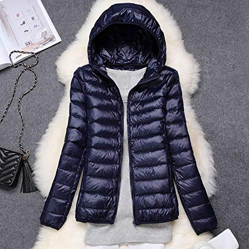 YRFHQB Winterdonsjack voor dames, ultralicht, 90% donsjack, donsjas met capuchon, parachutekwaliteit, merk lente, herfst