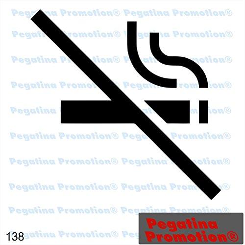 Pegatina Promotion Piktogramm Typ 138 Icon Symbol Zeichen Nichtraucher Rauchverbot Rauchen verboten Aufkleber Sticker ca.15cm Aufkleber mit Verklebehilfe Hintergrund geplottet