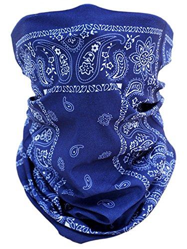 memego Scaldacollo tubolare Foulard Sciarpa Multi Paisley Muster Blau Taglia unica