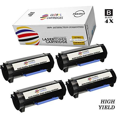 GLB Premium Quality Compatible Dell 331-9756 / X5GDJ Black Laser Toner Cartridge for Dell Laser B5460, B5460DN, B5465, B5465DN, B5465DNF Printers(4-Pack)