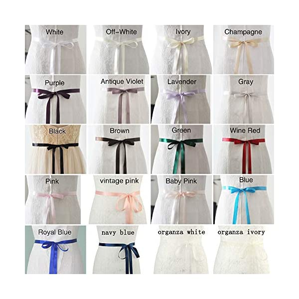 azaleas Women's Crystal Thin Wedding Belt Sashes
