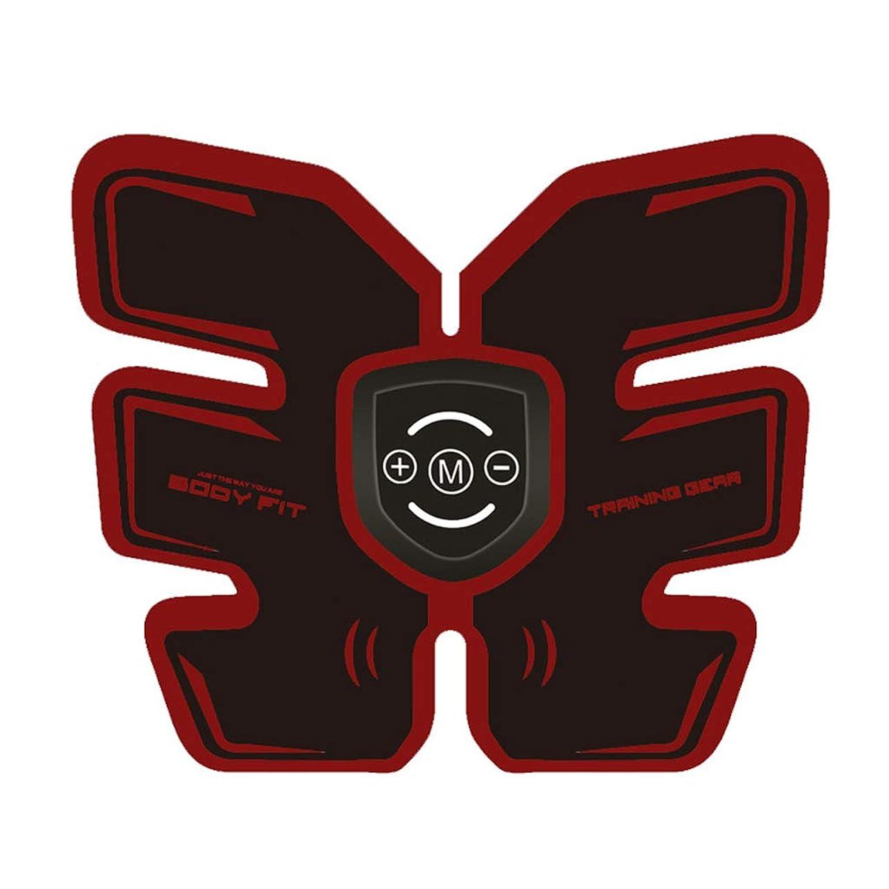毛布ダイヤモンドインスタンスフィットネス薄いベルト、ボディビルディング腹部ベルト筋肉腹部トレーナーホームインテリジェント筋肉トレーニングフィットネス機器ホームオフィスワークアウト機器機器用男性&女性 (Color : RED, Size : 19*20CM)