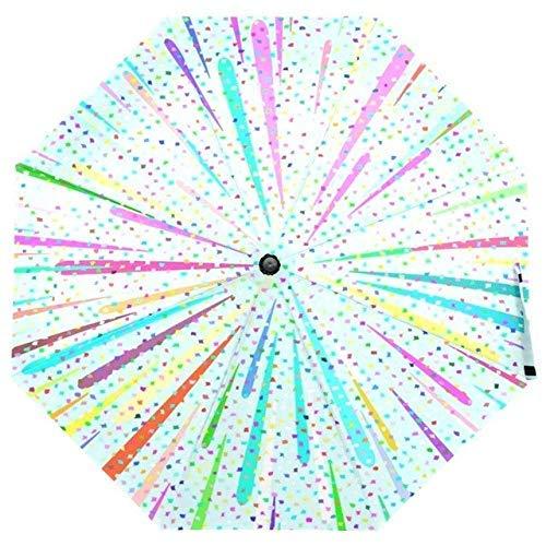 JIAJBG Colorido Estilo Dinámico Paraguas Lluvia Mujeres Ligero Paraguas Plegable Paraguas No Automático Paraguas a Prueba de Viento para el Niño 2 Reutilizable / 1