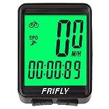 FRIFLY Bike Computer Wired Bike Speedometer Bike Odometer Waterproof Bicycle Computer Backlight 2.1 inch LCD Display mph/kmph Settable