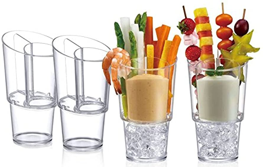 第五ペルセウスストリップProdyne Veggie Sticks & Dip On Ice, Set of 4