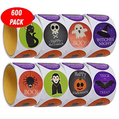 The Twiddlers 600 Pegatinas de Halloween - 5 Diseños