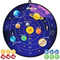 """29"""" Large Dart Board, Board Games for Kids with 12 Sticky Balls, Indoor/ Sport Outdoor Fun Party Play Game Toys, Gifts for 3 4 5 6 7 8 9 10 11 12 Year Old Boys Kids Girls Toddlers Teens from BooTaa"""