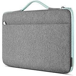 Inateck Custodia Laptop PC 14 Pollici Compatibile con Notebook Chrombook Ultrabook 14, MacBook PRO 15 Pollici 2019/2018/2017/2016, Surface Laptop 3 da 15 Pollici, Borsa Valigetta - Menta Verde