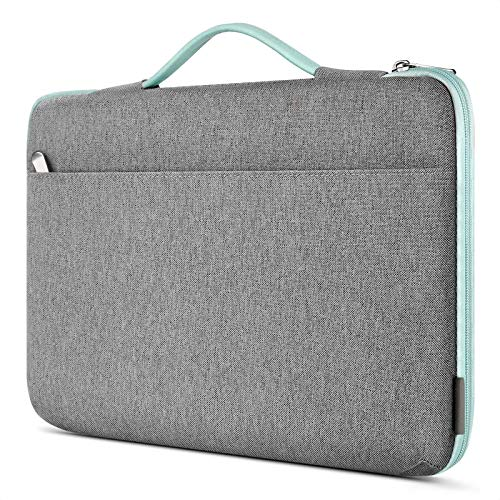 Inateck 14 Inch Laptop Case Sleeve Briefcase, Shock Resistant Bag Compatible Notebook/Chromebook/ThinkPad/Ultrabook, MacBook Pro 15 Inch 2016-2019, Surface Laptop 3 - Mint Green