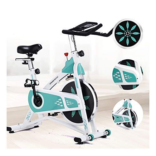 QWET Vélo de vélo d'intérieur, vélo d'exercice d'intérieur à entraînement par Courroie, vélo Stationnaire pour la Formation de vélo d'entraînement Cardio à la Maison