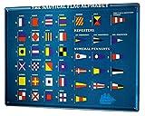 LEotiE SINCE 2004 Cartel Letrero de Chapa XXL Agencia De Viajes Vacaciones Alfabeto de Banderas náuticas