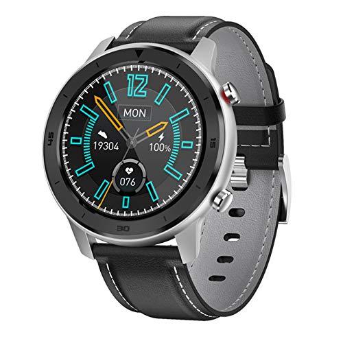 WEINANA Reloj inteligente para hombre, monitor de actividad física, reloj inteligente deportivo, monitoreo del sueño, frecuencia cardíaca, reloj de pulsera para hombres para iOS Android (color: D)