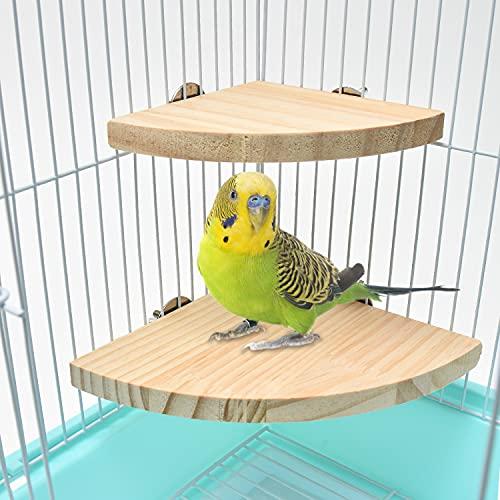インコ とまり木 (2個セット)『 ハムスター 小動物 などにもご利用頂けます!』 鳥 スタンド 鳥用止まり木 インコ オウム 文鳥 スパイラルパーチ 【Cutespace】 (10cm×10cm +13cmx13cm)