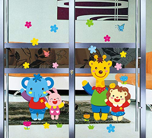 Wall sticker Children bedroom background on small animals The third generation of removable 60x90cm