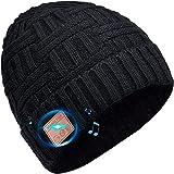 COTOP Gorro Bluetooth Regalo Mujer Hombre, Regalo Original Gorra Musical Bluetooth 5.0 con Auriculares, Gorro Unisex de Invierno Tejido para Esquiar, Acampar, Correr,Ciclismo Deportes al Aire Libre