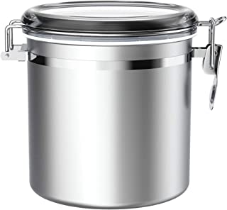 Stainless Steel Airtight Canister for Kitchen, ENLOY Large Flour Coffee Bean Tea Cereal Sugar Cookie Metal Food Storage Ca...