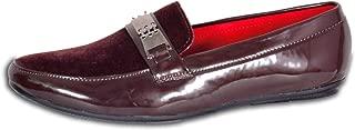 Walkin Men's Slip on Patent Synthetic Casual Shoe, Shoe, Maroon Color
