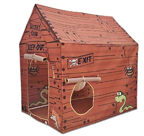 OPNIGHDYMD Children Tent,Children's Yurt Toy Baby Tent Game House Princess Indoor Play House Indian Wooden House Pirate House