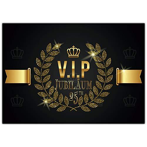 A4 XXL 25 Jubiläum Karte VIP 25th JUBILÄUM mit Umschlag - Jubiläumskarte Glückwunschkarte zum 25. Dienstjubiläum Firmenjubiläum von BREITENWERK