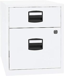 BISLEY Caisson mobile hauteur bureau PFA, 1 tiroir, 1 tiroir pour DS blanc trafic - Armoire basse Armoire de bureau Armoir...