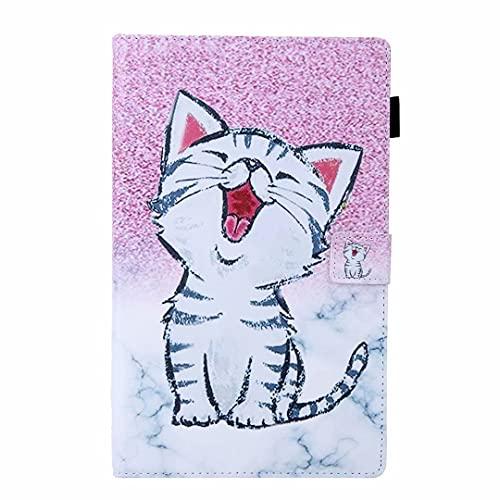 Funda para Samsung Galaxy Tab A 7.0 Pulgadas SM-T280/T285 Tablet Case Case Funda de piel sintética a prueba de golpes Multi-Angular Soporte de visualización Folip Flip Funda protectora Smile Cat