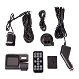 HDE Dual Lens Dashboard Car DVR Dash Cam and Rear View Camera Accident Recording System with Motion Detection/G-Sensor