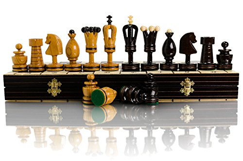Master of Trading Superb Royal Incrusted Large Chess Set 50cm / 20In Luxury Handcrafted Wooden Game