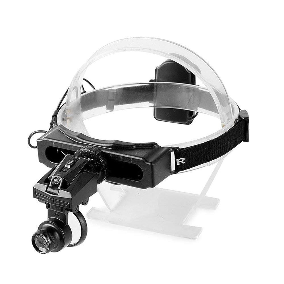 経済ジュース登録する虫眼鏡を身に着けている照らされたLEDの頭部5X 8X 20X虫眼鏡ジュエリー識別時計計器メンテナンス玉アンティーク書道と絵画鑑賞拡大鏡