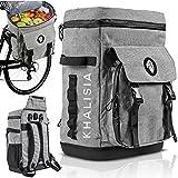 KHALISIA® 3in1 Fahrradtasche für Gepäckträger l Kühltasche & Reisetasche   Kühlrucksack &...